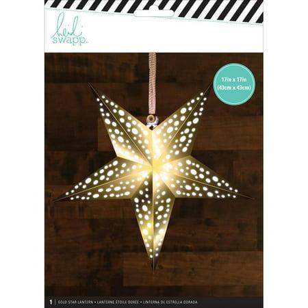 Heidi Swapp Star Paper Lantern-gold/medium ()