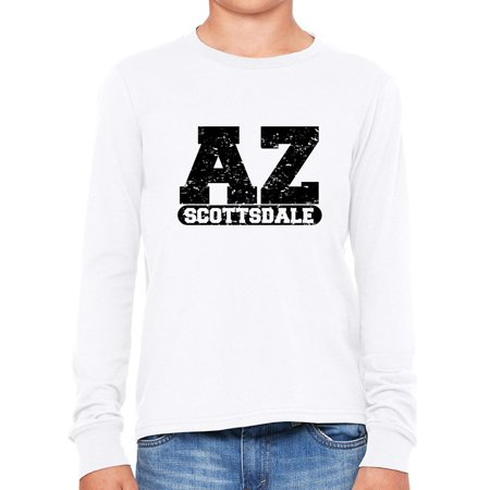 Scottsdale, Arizona AZ Classic City State Sign Boy's Long Sleeve T-Shirt - Party City Scottsdale Az