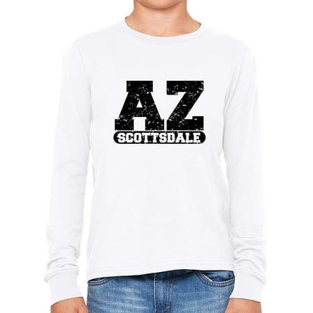 Scottsdale, Arizona AZ Classic City State Sign Boy's Long Sleeve T-Shirt (Party City Scottsdale Arizona)