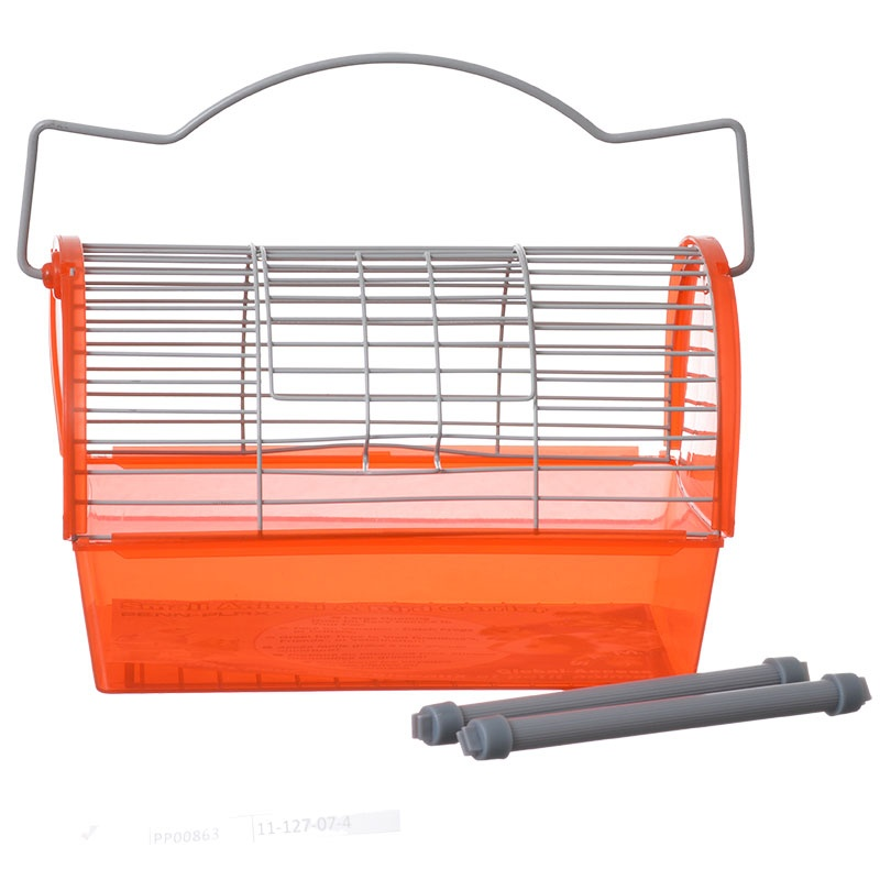 """Sam Global Access Bird Carrier - Small - 8.5""""L x 6""""W x 5.25""""H - (Assorted Colors)"""
