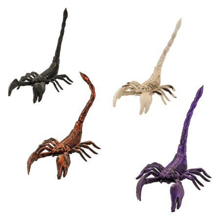 Halloween Haunters Set of 4 Scary Over-Sized Skeleton Scorpion Prop Decorations - Scorpion Halloween