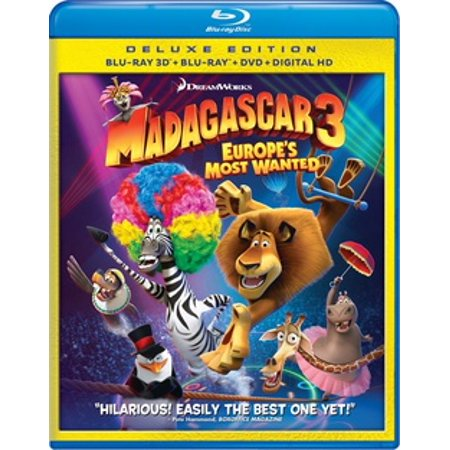 Madagascar 3: Europe's Most Wanted (3D Blu-ray + Blu-ray + DVD + Digital Copy) - Madagascar 3 Characters
