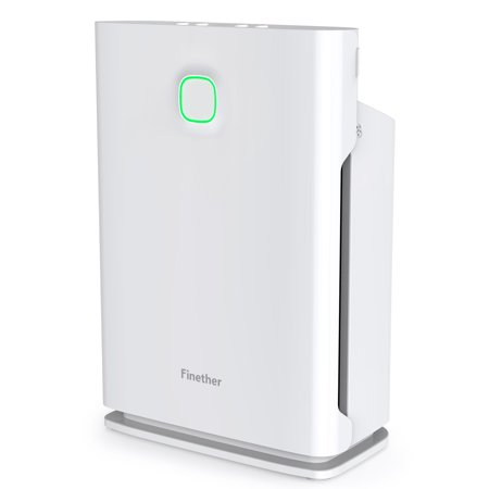 Finether Air Purifier Home Carbon Filter Air Purifiers Quiet Air Cleaner with HEPA Filter, 3 Stage Filtration, 4 Timers, 3 Fan Speed, Child Lock, Filter Replace Indicator for Room Bedroom 323 sq. Ft