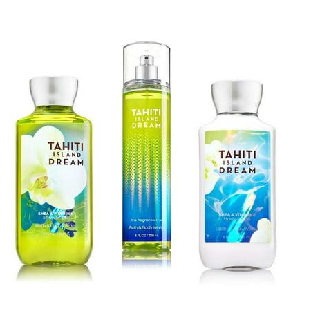Bath & Body Works ~ Signature Collection ~ Tahiti Island Dream ~ Shower Gel ~ Fine Fragrance Mist & Body Lotion ~ Trio Gift (Body Trio Gift Set)