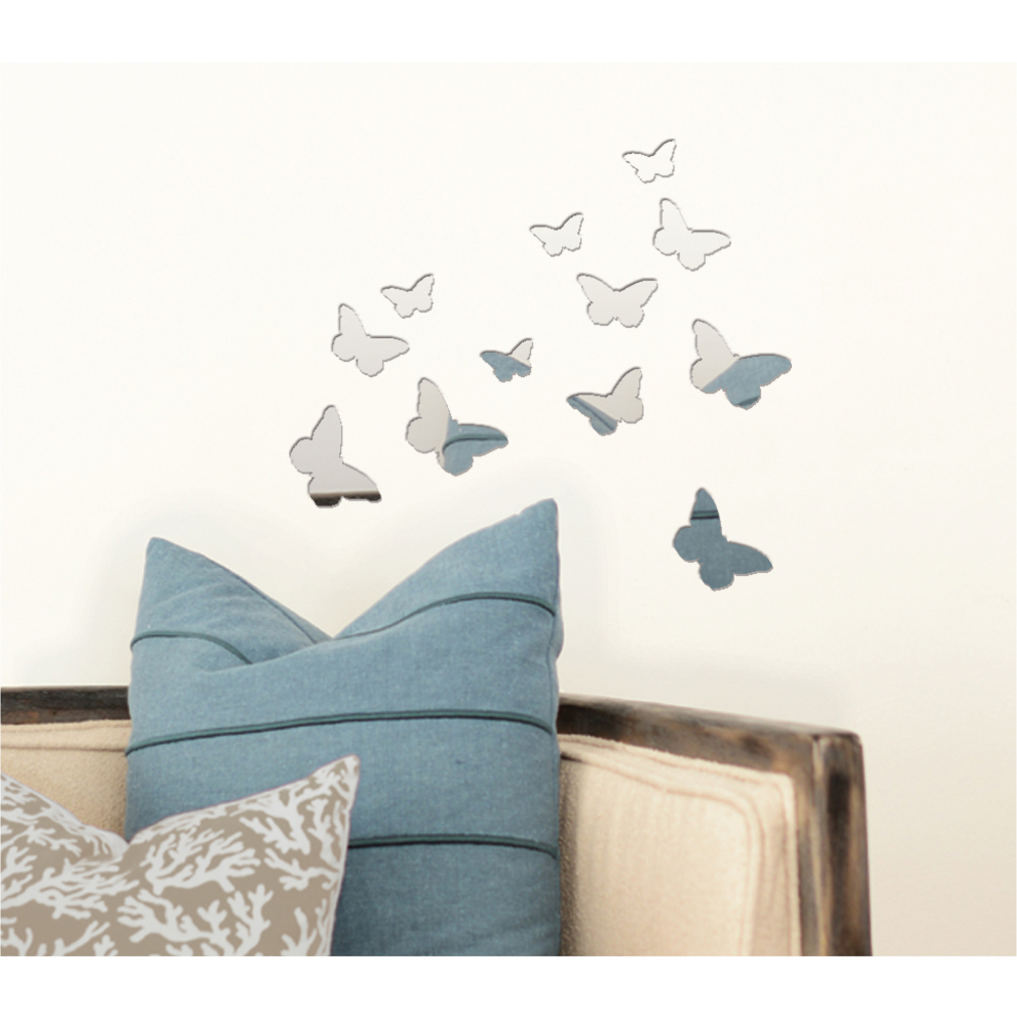 pressed petals butterfly mirror decal walmart com