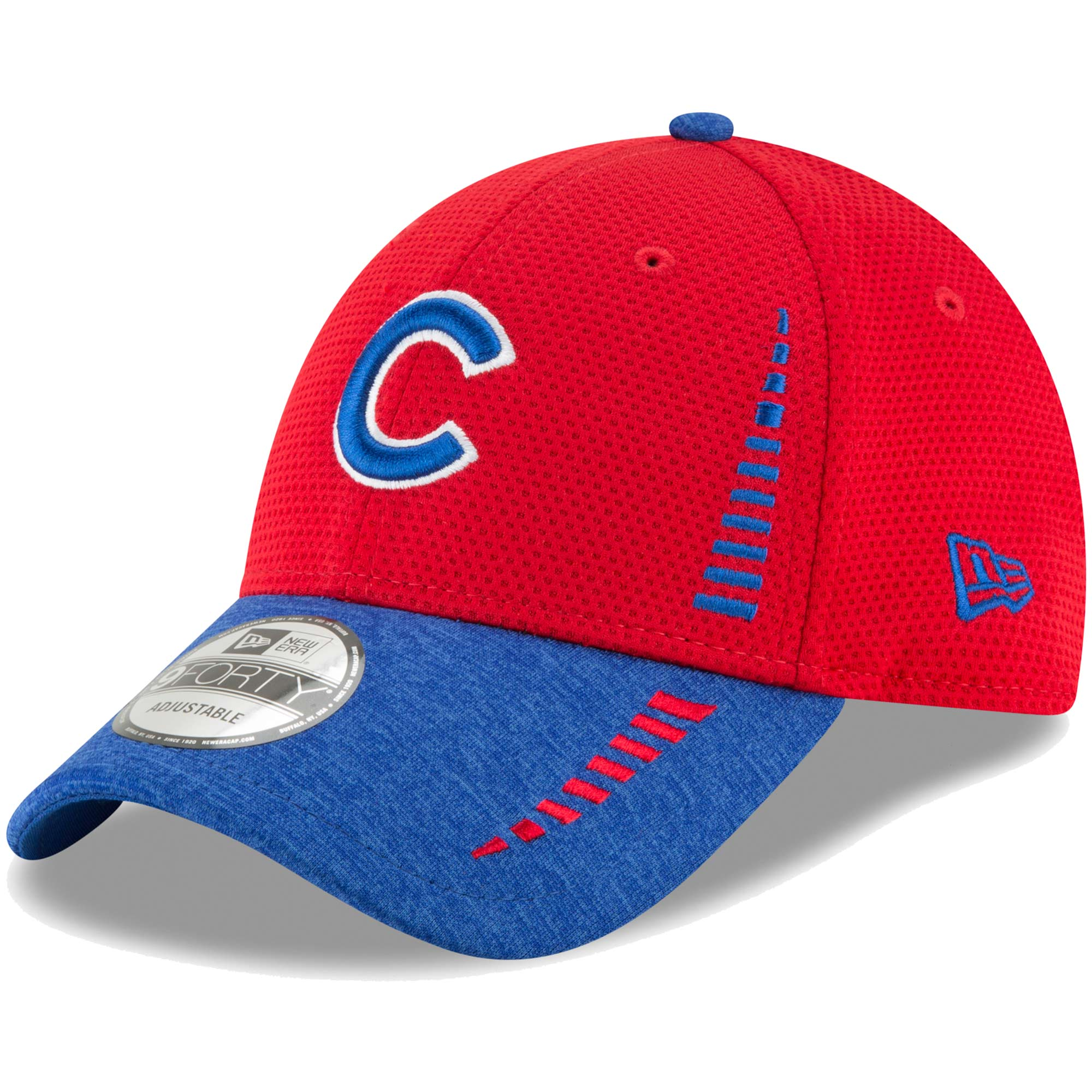 Chicago Cubs New Era Speed Tech 9FORTY Adjustable Hat - Red/Heathered Royal - OSFA