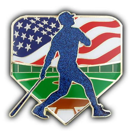 PinMart's Large Baseball Patriotic Trading Enamel Lapel - Pin Trading Bags