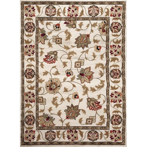 Persian Rugs 1005 Cream Floral Oriental Area Rug