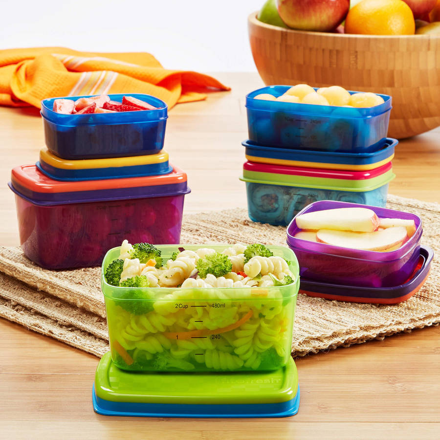 Kids' 14-Piece Leak-Proof Lunch Container Set