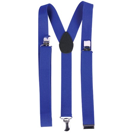 Child's Clown Costume Accessory Bright Royal Blue Suspenders - Clown Costumes Accessories