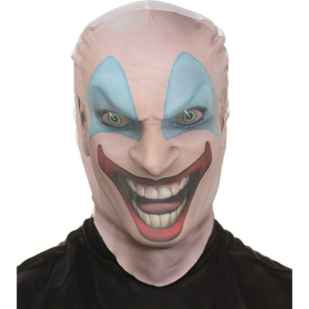 Killer Clown Skin Mask Adult Halloween Accessory - It Clown Halloween Mask