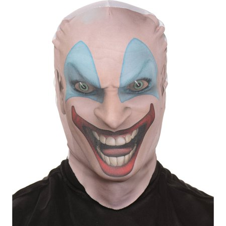 Killer Clown Skin Mask Adult Halloween Accessory