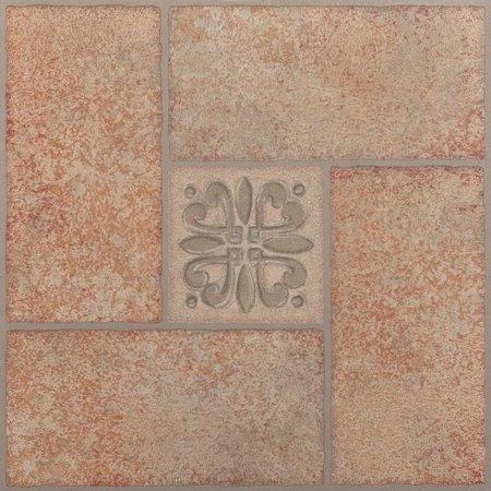 achim nexus 20 piece beige terracotta motif 12x12 self adhesive vinyl floor tile 20 - Terra Cotta Tile Canopy 2015