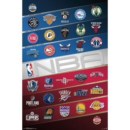 NBA - Logos Poster Print