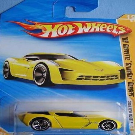 Hot Wheels 09 Corvette StingRay Concept (Yellow) - 2010 New Models #19 1:64 Scale