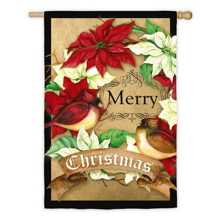 Christmas Flag Flags (Evergreen Flag Merry Christmas House)