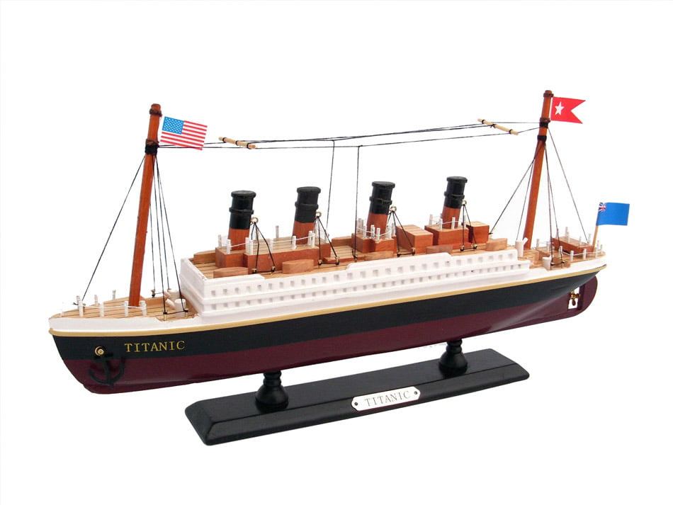 "RMS Titanic 14"" Wooden Titanic Model Ship Titanic Toy For Children Titanic Gifts And... by Handcrafted Nautical Decor"