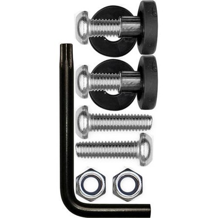 Cruiser Accessories Locking Fasteners, Stainless Rattle Stop Kit, Metric Star Pin
