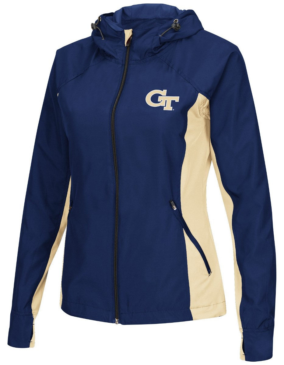 "Georgia Tech Yellowjackets NCAA Women's ""Step Out"" Full Zip Windbreaker Jacket by Colosseum"