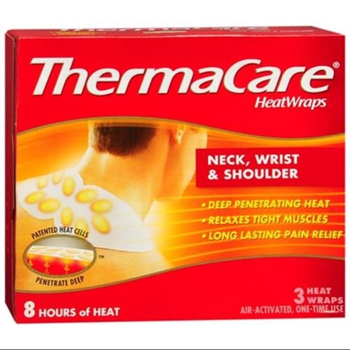 ThermaCare Heatwraps Neck, Shoulder & Wrist 3 Each (Pack of 6)