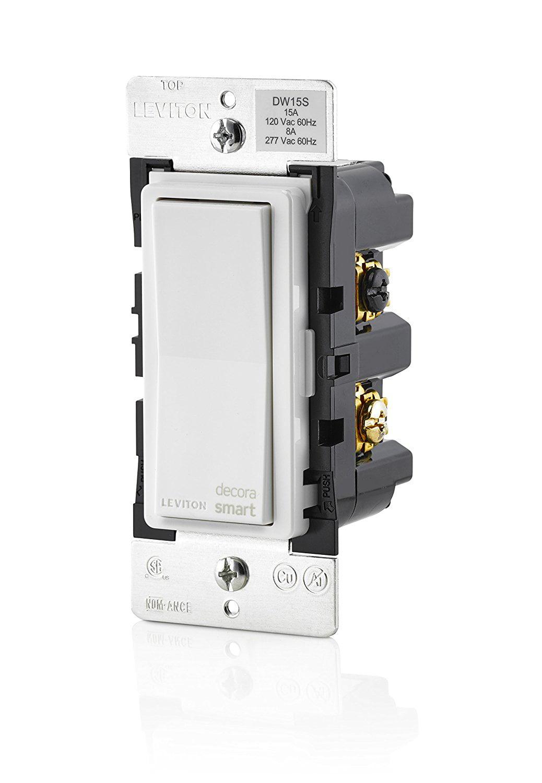 Leviton DW15S-1BZ Decora Smart Wi-Fi 15A Universal LED Incandescent Switch by Leviton