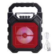 3D Surround Sound Portable Bluetooth PA Speaker, LED Light Subwoofer Loudspeaker System, With/Without Microphone Outdoor Karaoke Machine Variable-color LED Lights Subwoofer Support USB/TF Card/AUX/FM