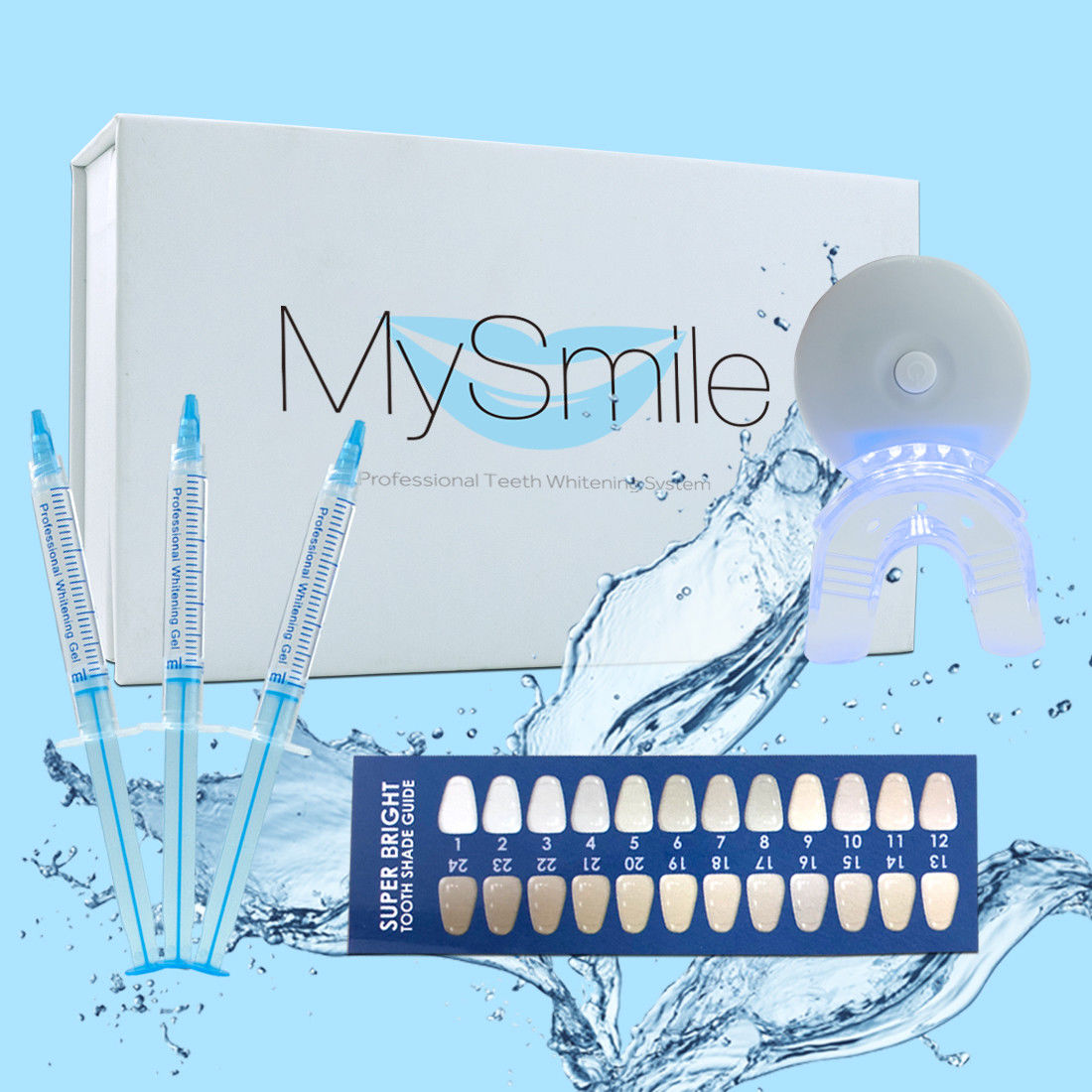 MySmile 18%CP Teeth Whitening Kit 3*3ML Gel Syringe +1 Silicone Tray ...