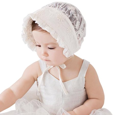 8f8851a25ea Infant Newborn Baby Girls Kids Lace Hat Cap Beanie Bonnet Hats Hair  Accesorries - Walmart.com