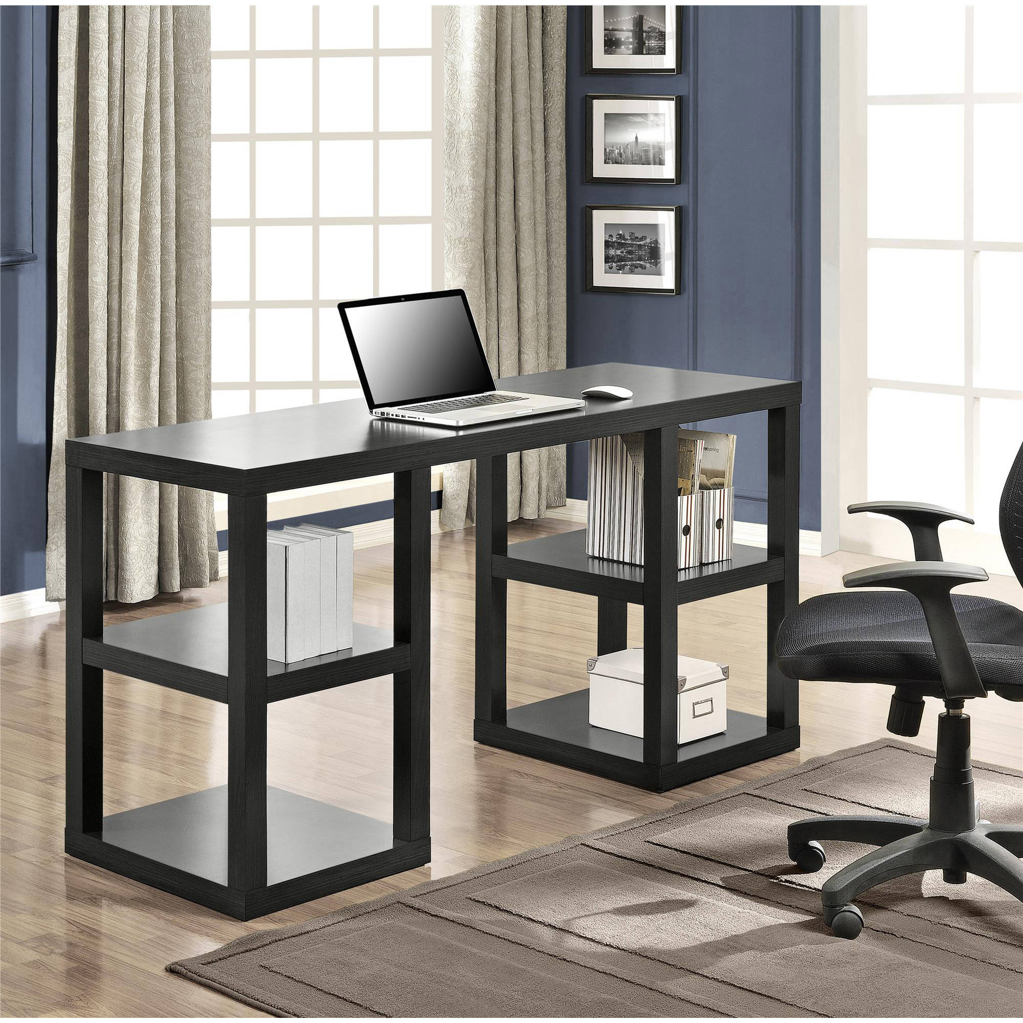 Hom Office Furniture: Computer Desk Home Office Double Pedestal Parsons Desk