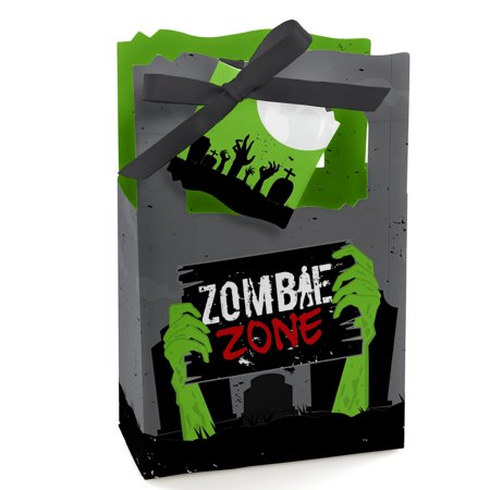 Zombie Zone - Halloween or Birthday Zombie Crawl Party Favor Boxes - Set of 12