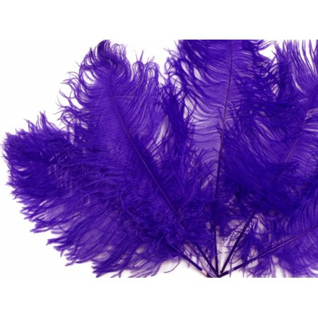 1/2 Lb - Purple Ostrich Tail Wholesale Feathers - Purple Feather