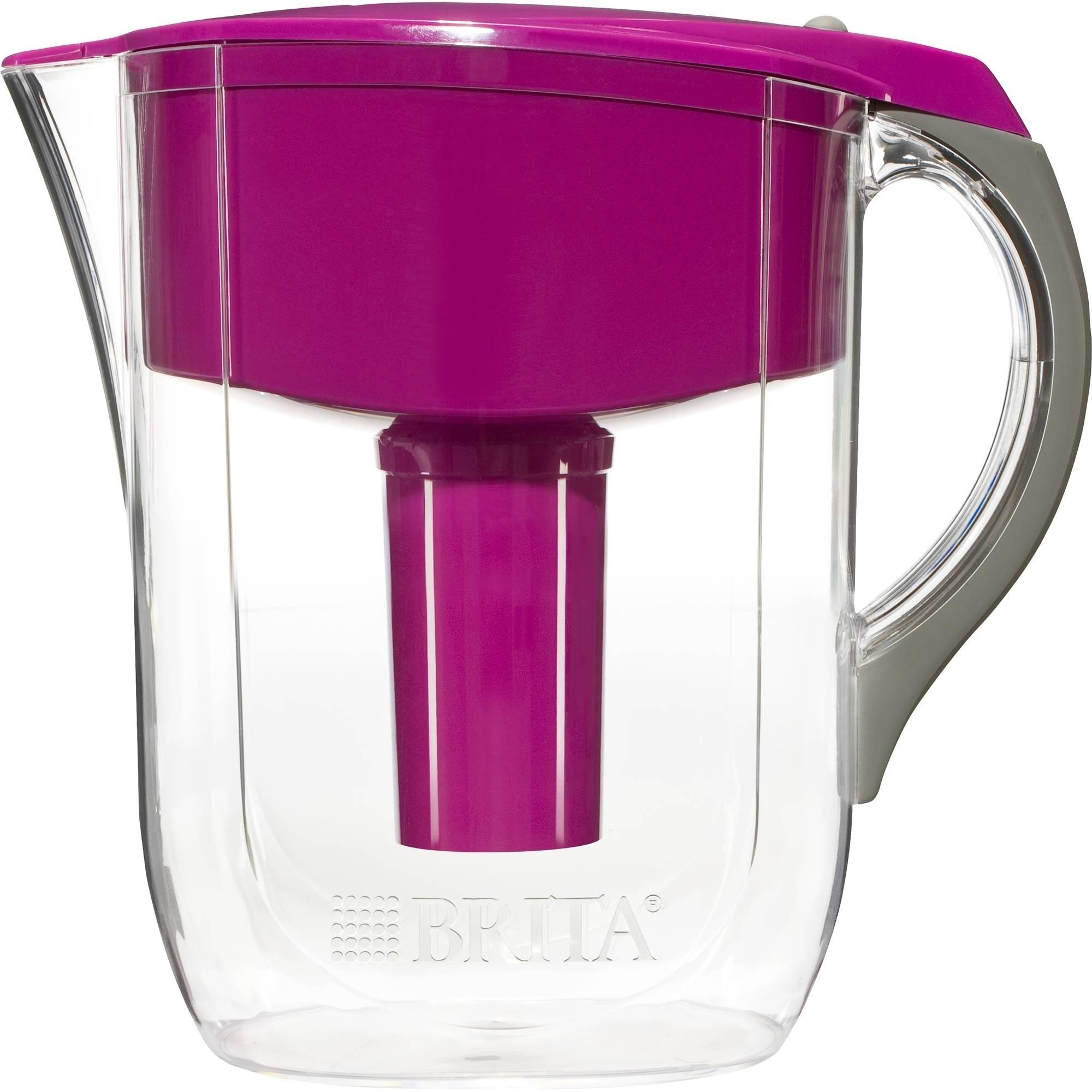 Brita Grand Water Filtration Pitcher, Violet, BPA Free