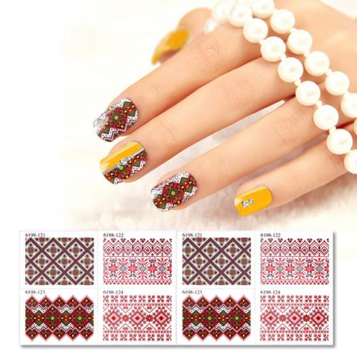 BMC 8pc Assorted Design DIY Gel Nail Polish Art Sticker Stamps - Mosaic Set