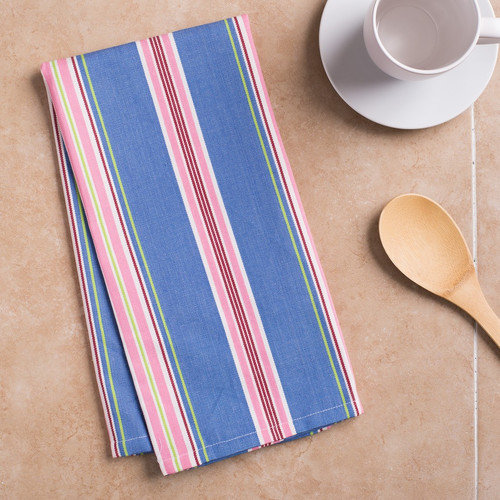 Linen Tablecloth Multi-Striped Kitchen Towel (Set of 2)