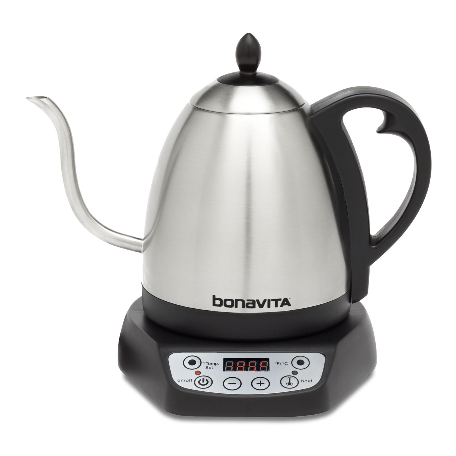 Bonavita 1.0L Variable Temperature Gooseneck Electric Kettle, Silver
