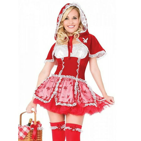 New Playboy Halloween Costume Little Red Riding Hood (Playboy Bunny Costumes)