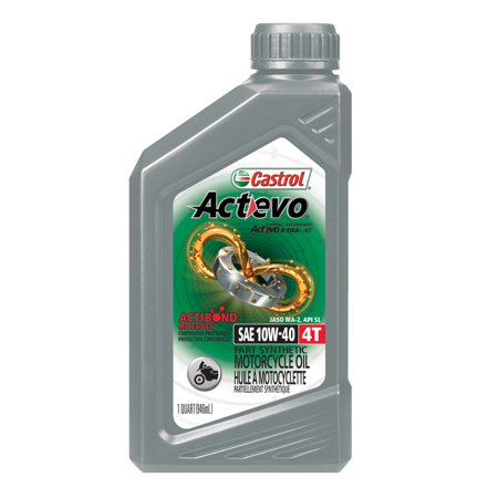 Castrol actevo 4t 10w 40 part synthetic motorcycle oil 1 for Motor oil out of clothes