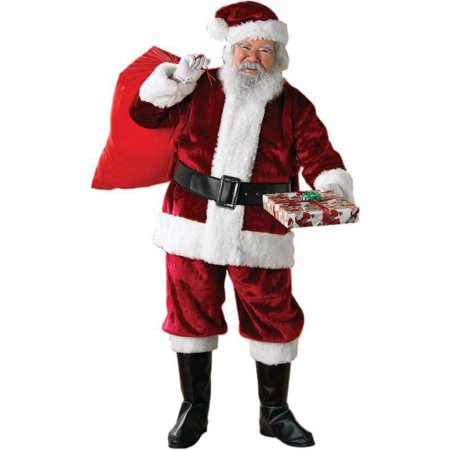Crimson Regency Plush Adult Santa Suit - Santa Costume Boots
