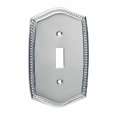 Switchplate Roped Chrome Single Toggle/Dimmer    Renovator's Supply Chrome Plated Single
