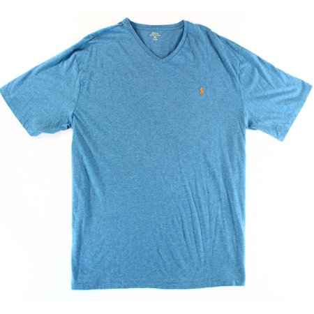 Polo ralph lauren new blue heather mens size xlt v neck for Mens xlt t shirts