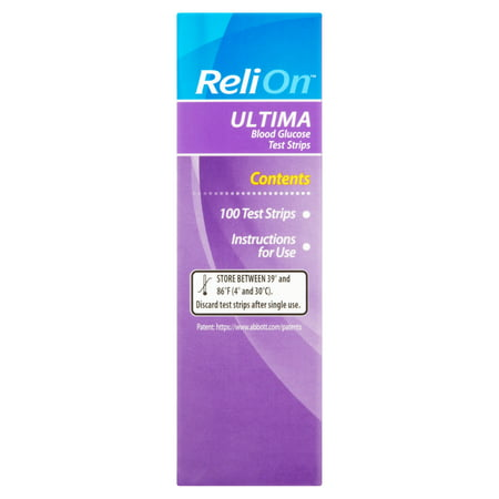 Relion Ultima Blood Glucose Test Strips 100 Ct Best