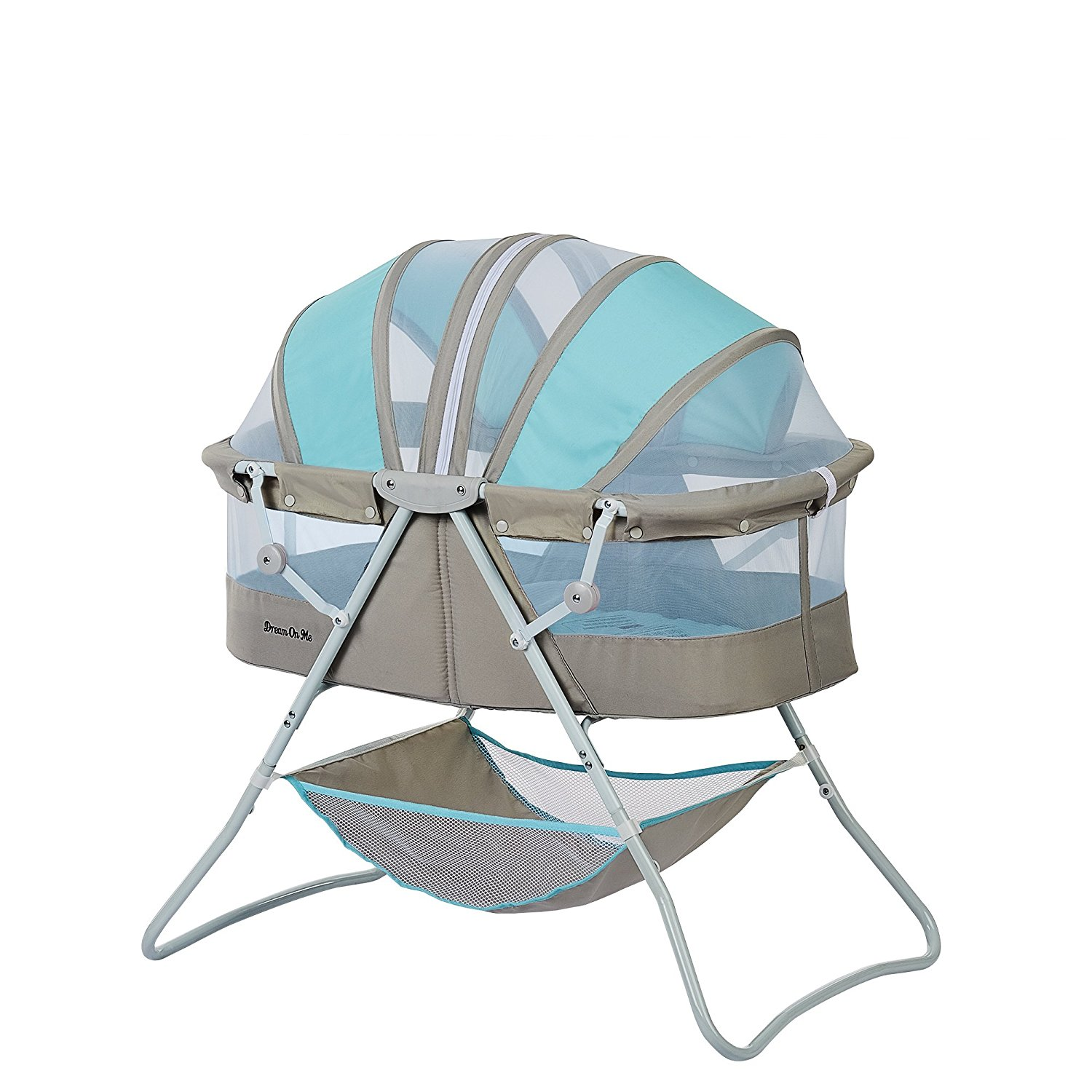 Karley Bassinet, Blue/Grey, Dream on Me Karley Bassinet is made of a polyester foam fabric. By Dream On Me