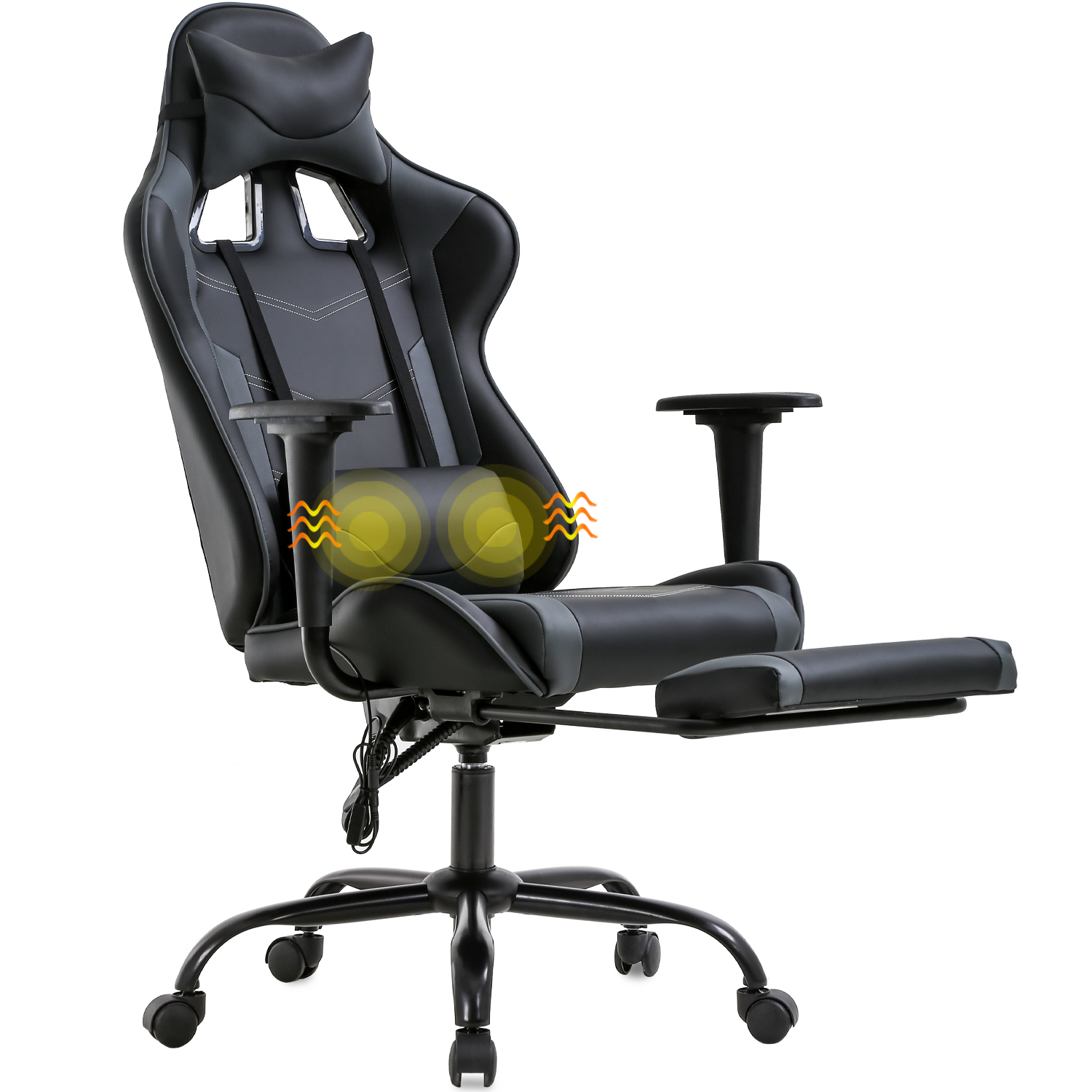 PC Gaming Chair Ergonomic Office Chair Racing Computer Chair Executive High Back PU Leather Desk Chair with Lumbar Support Armrest Headrest Rolling Swivel Chair for Women Adults Camo
