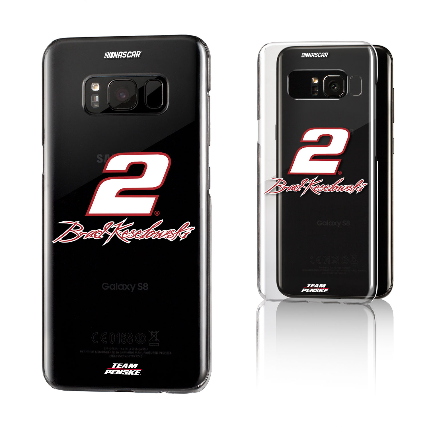 Brad Keselowski Insignia Clear Case for Galaxy S8