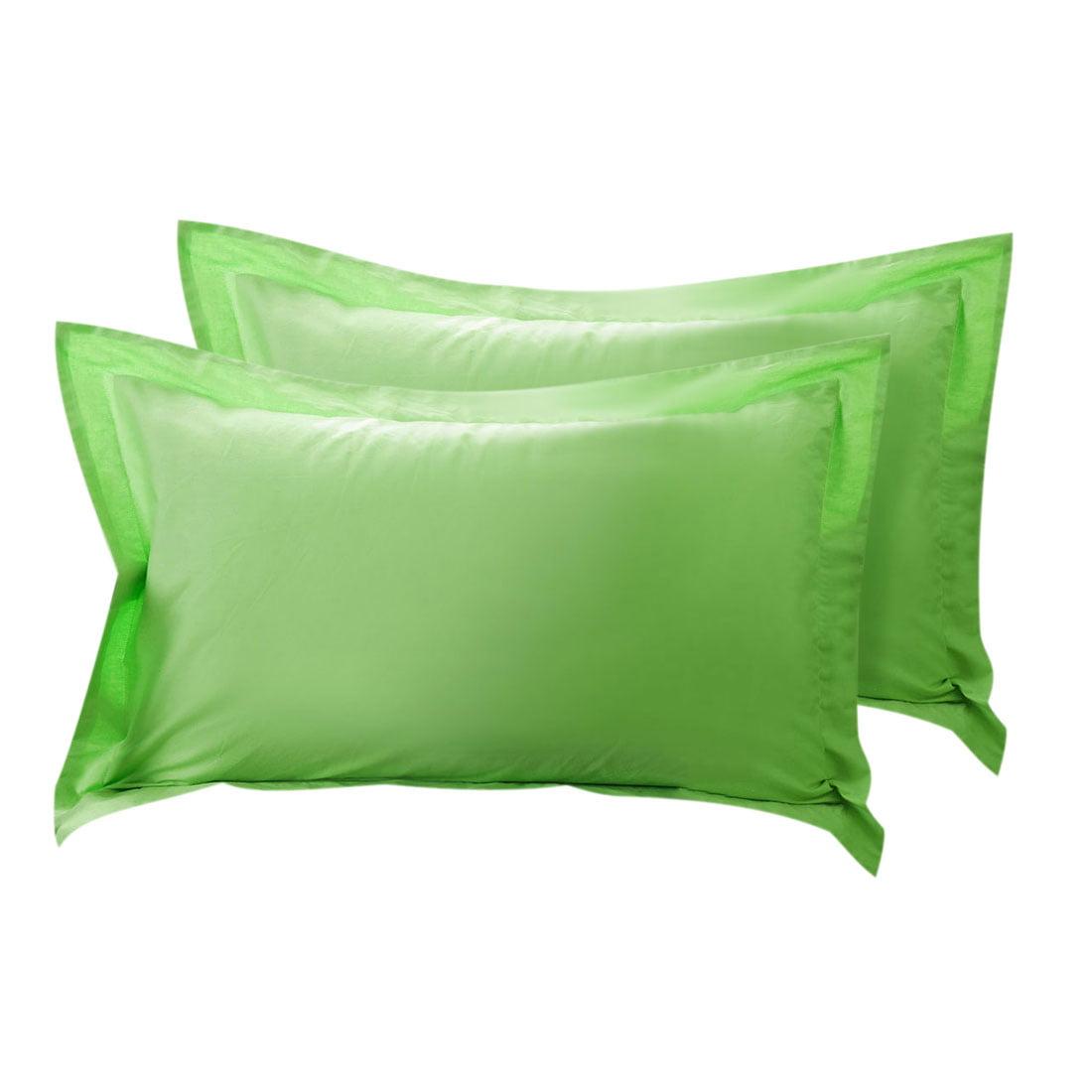 Boudoir Couvre-oreillers en coton Oxford Taie d'oreiller vert 20 x 36 pouces, Set de 2 - image 1 de 1