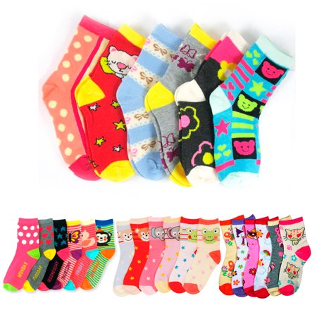 6 Pairs Girls Socks Toddler Shoe Size 2T 3T Baby Kids Nwt Fashion Assorted Color - Toddler Sizes 2t