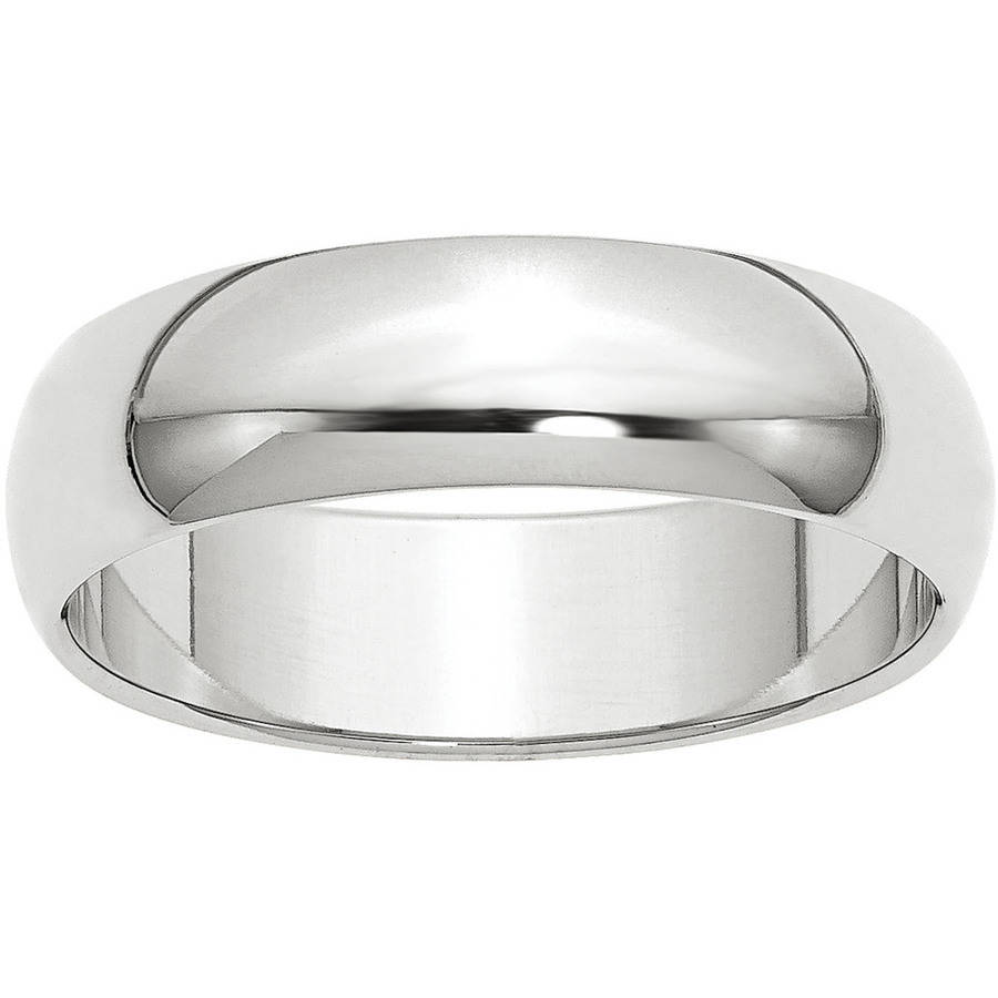 10k White Gold 4mm LTW Comfort Fit Band Fine Jewelry Ideal Gifts For Women