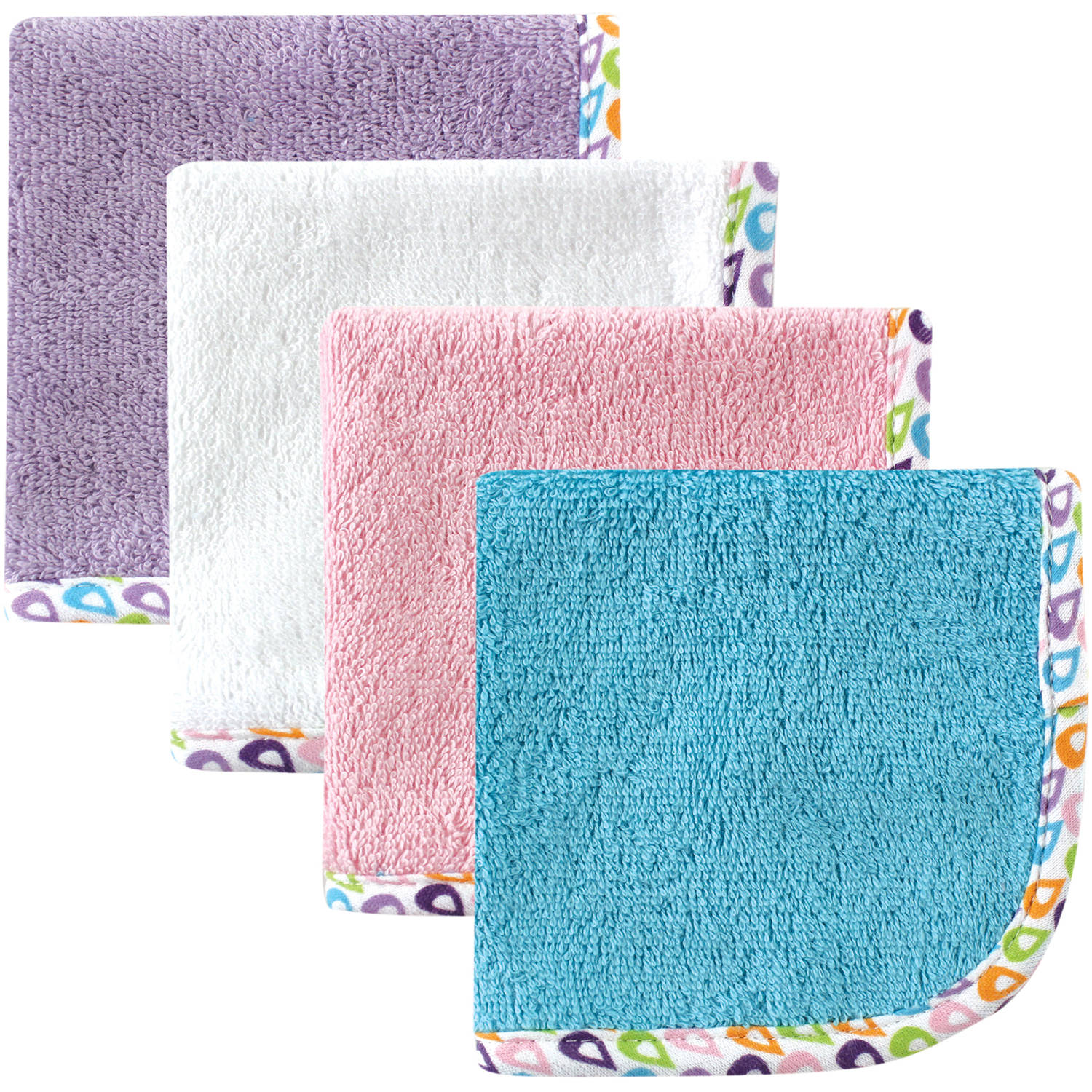 Hudson Baby Baby Woven Washcloth, Purple, 4 Pack