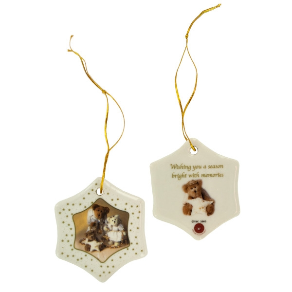 Holiday Bears Porcelain Ornaments Set (Lot of 6)