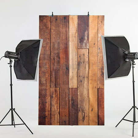 NK HOME Studio Photo Video Photography Backdrops 3x5ft Wide Rustic Planks  Printed Vinyl Fabric Background Screen Props